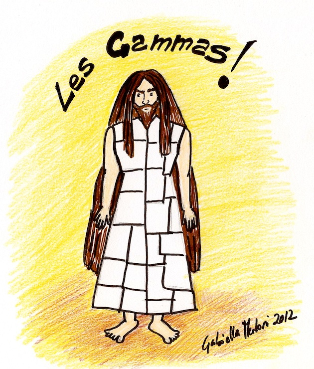 "Esquisse représentant un ""gammas"""