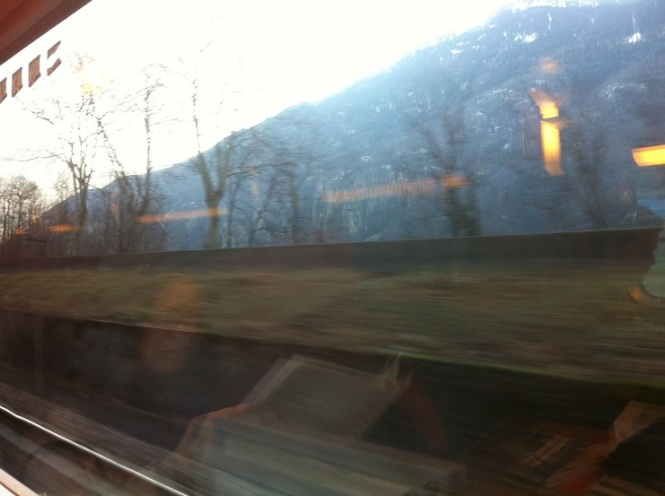 Le train en direction de Torino