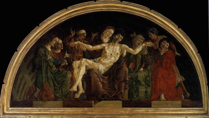 002 Cosmè_Tura_-_Pietà_(panel_from_the_Roverella_Polyptych)_180